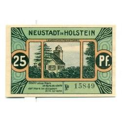 OLD GERMANY EMERGENCY PAPER MONEY - NOTGELD Neustadt i. Holstein 1921 25 Pf  Leu