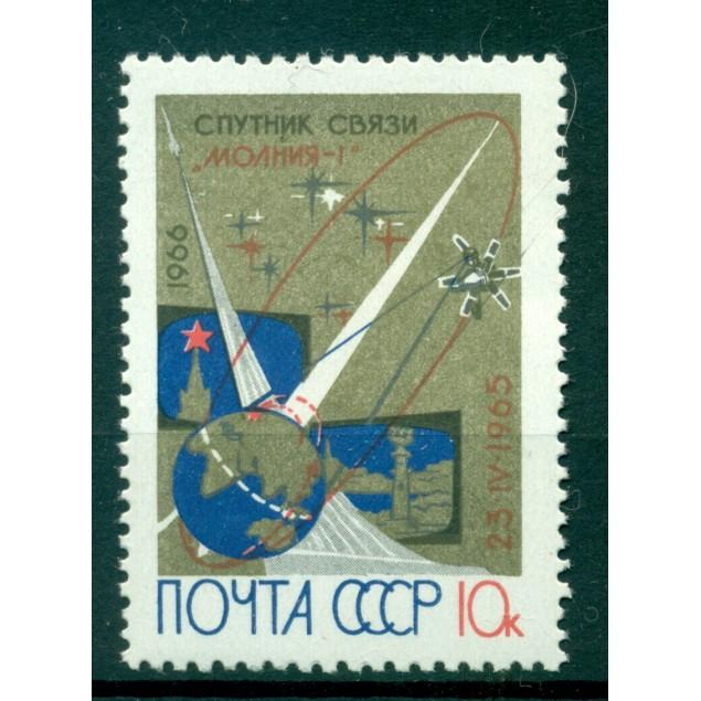 """USSR 1966 - Y & T n. 3087 - Communications satellites """"Molniya I"""""""
