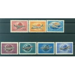 URSS 1958/59 - Y & T n. 105/11 poste aérienne - Aviation civile