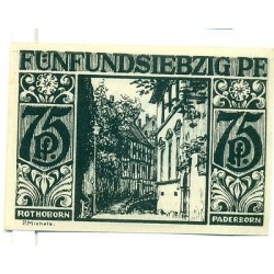 OLD GERMANY EMERGENCY PAPER MONEY - NOTGELD Paderborn 1921 75 Pf