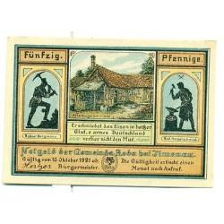 OLD GERMANY EMERGENCY PAPER MONEY - NOTGELD Roda 1921 50 Pf Alte Nagelschmiede