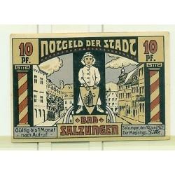 OLD GERMANY EMERGENCY PAPER MONEY - NOTGELD Salzungen 1921 10 Pf