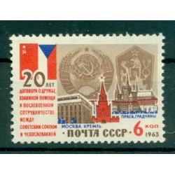 URSS 1963 - Y & T n. 2745 - Pacte d'amitié avec la Tchécoslovaquie (Michel n.2832 III)