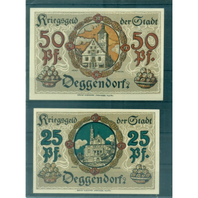 OLD GERMANY EMERGENCY PAPER MONEY - NOTGELD Deggendorf 1921
