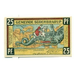 OLD GERMANY EMERGENCY PAPER MONEY - NOTGELD Suderbrarup 1921 25 Pf  3