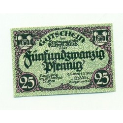 OLD GERMANY EMERGENCY PAPER MONEY - NOTGELD Triebes 1920 25 Pf