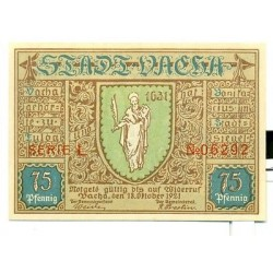 OLD GERMANY EMERGENCY PAPER MONEY - NOTGELD Vacha 1921 75 Pf SERIE L