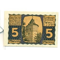 OLD GERMANY EMERGENCY PAPER MONEY - NOTGELD Waltershausen 1921 5 Pf