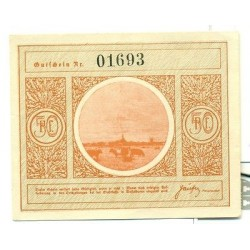 OLD GERMANY EMERGENCY PAPER MONEY - NOTGELD Wesselburen 1921 50 Pf