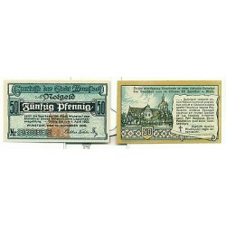 OLD GERMANY EMERGENCY PAPER MONEY - NOTGELD Wunstorf 1920 50 Pf