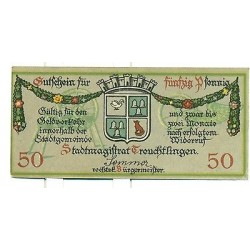 OLD GERMANY EMERGENCY PPAER MONEY - NOTGELD Treuchtlingen 1918 50 Pf