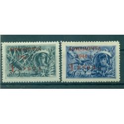 USSR 1944 - Y & T n. 70/71 air mail - Soviet Heroes (Michel n. 899/900 II)