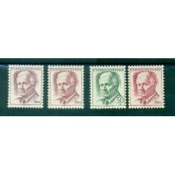 Czechoslovakia 1970 - Mi. n. 1920/1921 + variety - President Svoboda