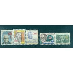 Tchécoslovaquie 1976 - Mi. n. 2300/2304 - Personnages