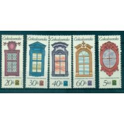 Tchécoslovaquie 1977 - Mi. n. 2364/2368 - Fenêtres