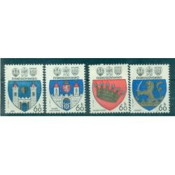 Tchécoslovaquie 1977 - Mi. n. 2360/2363 - Armoiries