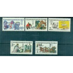 Tchécoslovaquie 1977 - Mi. n. 2391/2395 - Livres pour Enfants