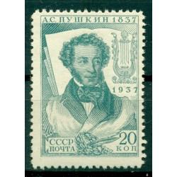 URSS 1937 - Y & T n. 591 - A. S. Pouchkine (Michel n. 550 A X)