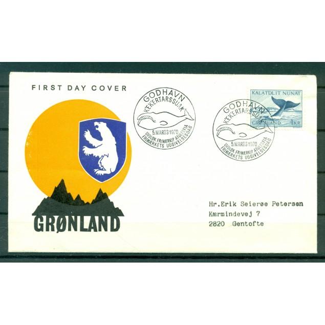 Greenland 1969 - Y & T n. 62 - Definitive (Whale)