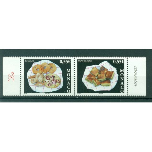 Monaco 2005 - Y & T n. 2489/90 -  Gastronomy