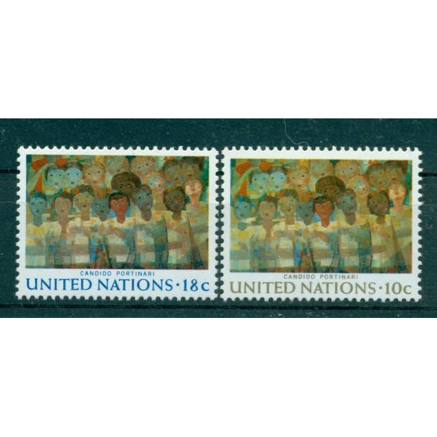 "Nations Unies New York 1974 - Michel n. 267/68  -  ""Candido Portinari"""