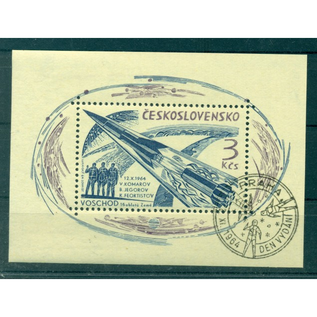 Czechoslovakia 1964 - Y & T sheet n. 25 - Voskhod 2 flight