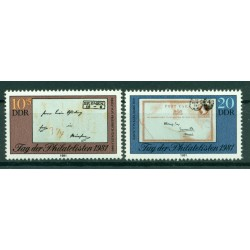 Germany - GDR 1981 - Y & T n. 2300/01 - Philatelists Day (Michel n. 2646/47)