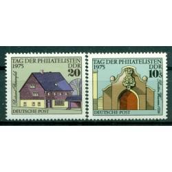 Germany - GDR 1975 - Y & T n. 1774/75 - Philatelists Day (Michel n. 2094/95)