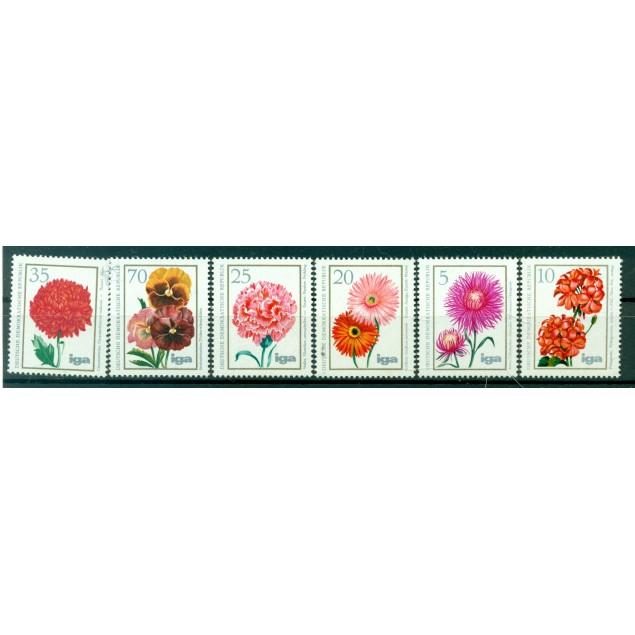 Germany - GDR 1975 - Y & T n. 1750/55 - Flora (Michel n. 2070/75)