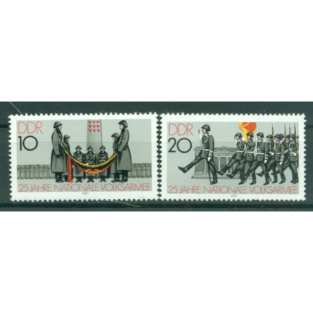 Germany - GDR 1981 - Y & T n. 2237/38 - NVA (Michel n. 2580/81)