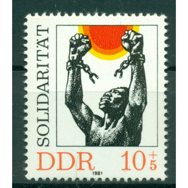 Germany - GDR 1981 - Y & T n. 2302 - International solidarity (Michel n. 2648)