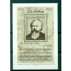 Germany - GDR 1983 - Y & T sheet n. 67 - Johannes Brahms (Michel n. 69)