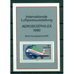 "Germany - GDR 1980 - Y & T sheet n. 57 - ""Interflug"" and ""Aerosozphilex"" (Michel n. 59)"