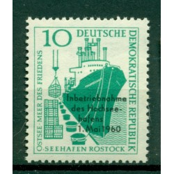 Germany - GDR 1960 - Y & T n. 477 - High seas port of Rostock (Michel n. 763)