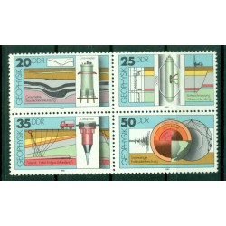Germany - GDR 1980 - Y & T n. 2216/19 - Geophysics (Michel n. 2557/60)