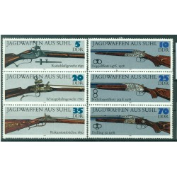 Germany - GDR 1978 - Y & T n. 2050/55 - Hunting rifles (Michel n. 2376/81)