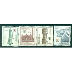 Germany - GDR 1986 - Y & T n. 2616/19 - Water management monuments (Michel n. 2993/96)