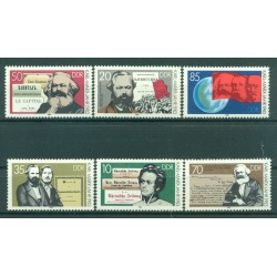 Germany - GDR 1983 - Y & T sheet n. 2427/32 - Karl Marx (Michel n. 2783/88)