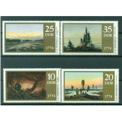 Germania - RDT 1974 - Y & T n. 1639/42 - Caspar David Friedrich (Michel n. 1958/61)
