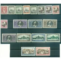 Vatican 1933 - Y & T  n. 44/59 + n. 3/4 express - Definitive