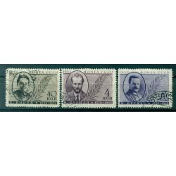 URSS 1935 - Y & T n. 580/82 (B) - Mort de trois révolutionnaires (Michel n. 539/41 C X)