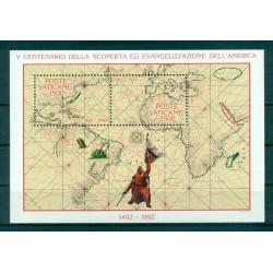 Vaticano 1992 - Mi. n. Bl. 13 1056/1057 - Cristoforo Colombo