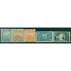 RSFSR 1921 - Y & T n. 139/43 - Attributes (Michel n. 151/55)