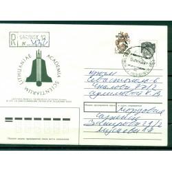 """URSS 1991 - Entier postal  """"Académie des sciences de Lituanie"""" - Mordovie"""