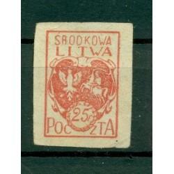 Russia - République Lituanie centrale 1920 - Michel n. 1 B  - Serie courante **
