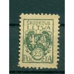 Russia - République Lituanie centrale 1921 - Michel n. 20 A - Serie courante *