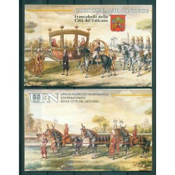 """Vaticano 1989 - Mi. n. 988/992 - """"Viaggi del Papa""""  Giovanni Paolo II"""