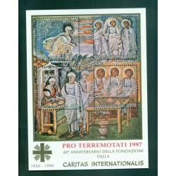 "Vatican 1997 - Mi. n. 1006/1009 Bl. 12 I - ""PRO TERREMOTATI 1997"""