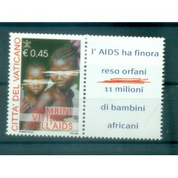 Vatican 2004 - Mi. n. 1488 Zf - Fighting against AIDS