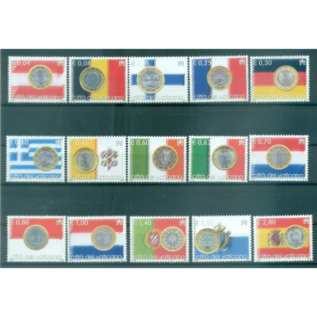 Vatican 2004 - Mi. n. 1491/1505 - The Euro